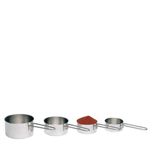 Stainless Steel Measuring Cup Set 1x4 Silver