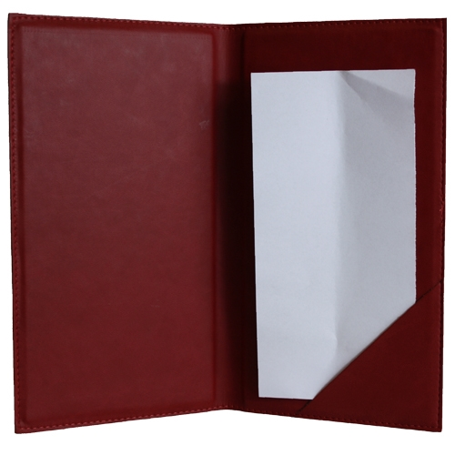 Vivelle  Bill Presenter 12 x 22cm Red