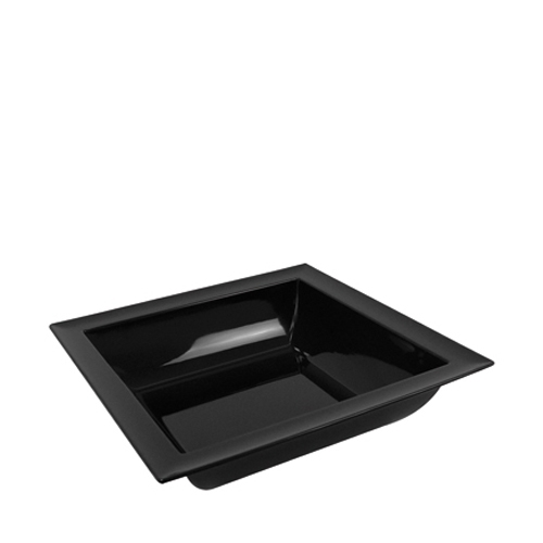 Dalebrook Melamine Dover Square Bowl 250x250x90mm Black
