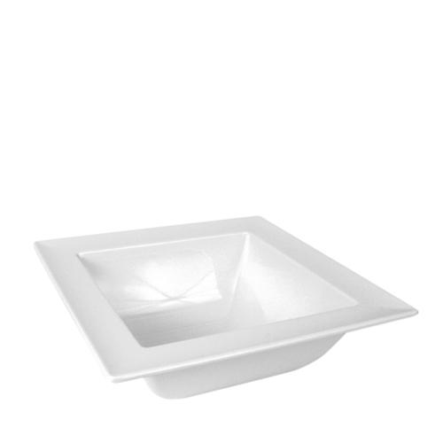 Melamine Square Bowl 25 x 25 x 9cm White