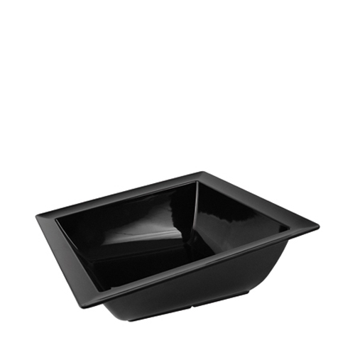 Dalebrook Melamine Angled Dover Bowl 375x375x140mm Black
