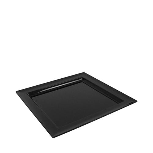 Dalebrook Dover Melamine Square Tray 375 x 375 x 30mm Black