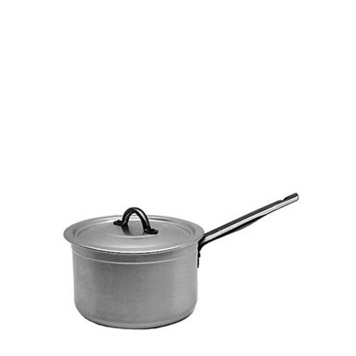 Genware Aluminium Medium Duty Saucepan & Lid 16cm Silver