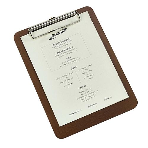 Wooden Menu Clipboard A5  Brown