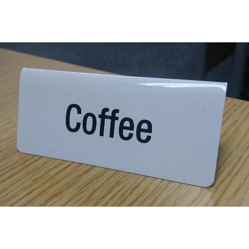 Mileta Coffee  Tent Sign White