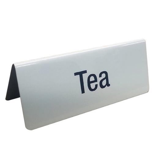 Mileta Tea  Tent Sign White