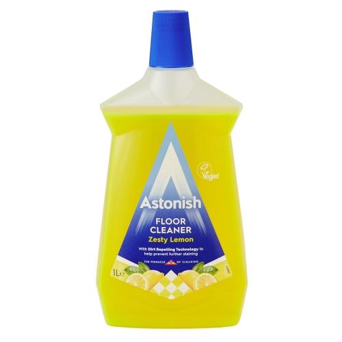 Astonish Mutli Pack Lemon Floor Cleaner 1Ltr Yellow