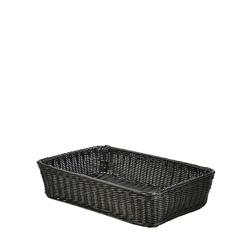 Genware Polywicker Display Basket 46cm x 31cm x 10cm Black