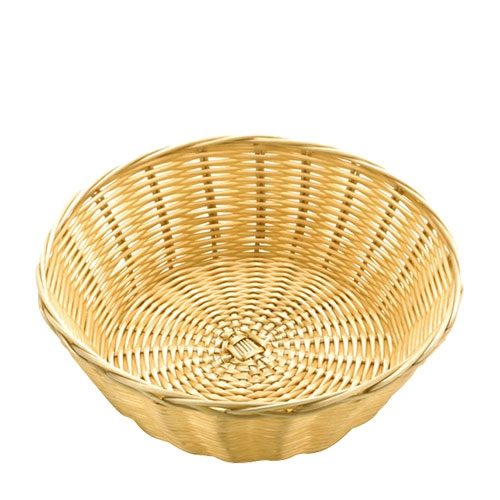 Polywicker/Rattan  Round Basket 8.5