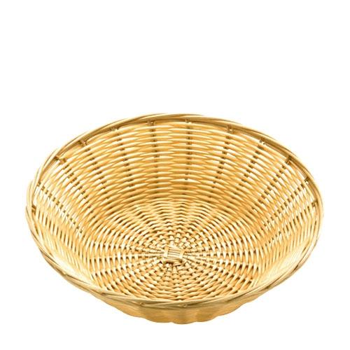 """Sunnex Polywicker/Rattan  Round Basket 10"""" Beige"""