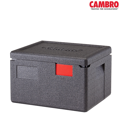EPP Cam GoBox Cambro GoBox Insulated Carrier 16.9Ltr EPP260 390mm (W) x 330mm (D) x 257mm (H) Black