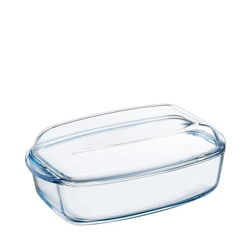 Toughened Glass Lidded Rectangular Casserole Dish