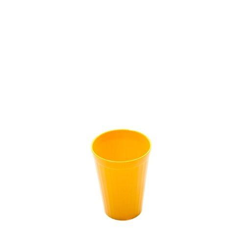 Harfield Polycarbonate Fluted Tumbler 20cl Yellow