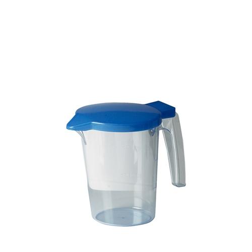 Polycarbonate Water Jug & Lid 750ml Blue