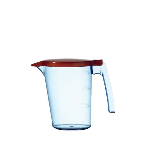 Polycarbonate Water Jug & Lid 750ml Red