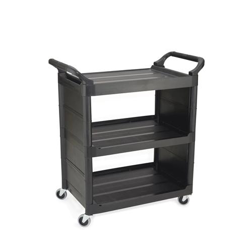 Rubbermaid 3 Shelf Utility Cart Black