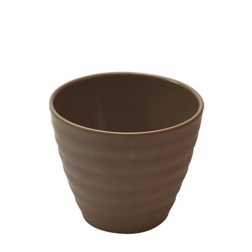Dalebrook Melamine  Rippled Pot 110x110x90mm Stone