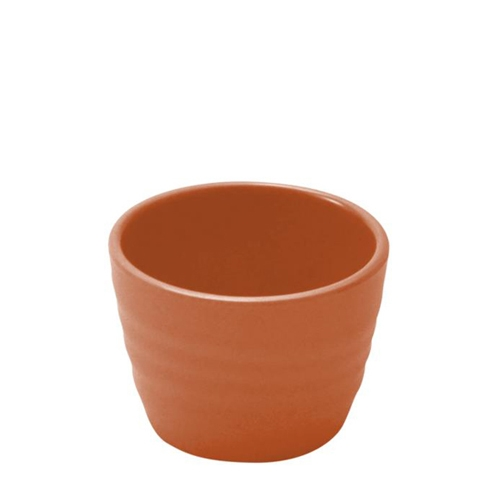 Dalebrook Terracotta Melamine Rippled Ramekin 70 x 70 x 50mm