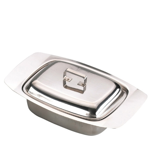 Sunnex Stainless Steel  Butter Dish Mirror Finish Silver