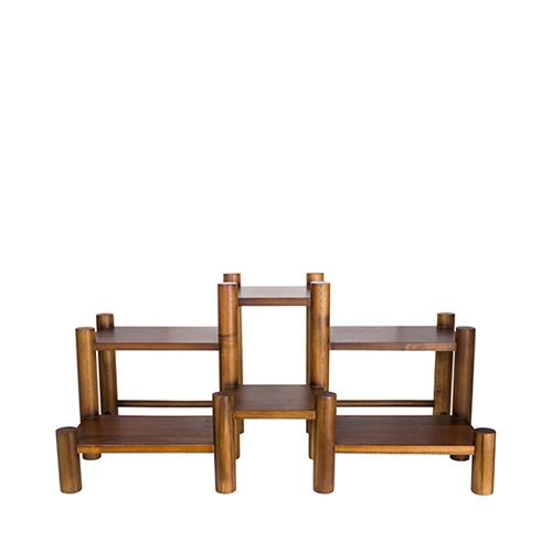 Steelite Acacia Wood 6 Level Coffee/Condiment Stand 20.5 x 35.56 x31cm Brown
