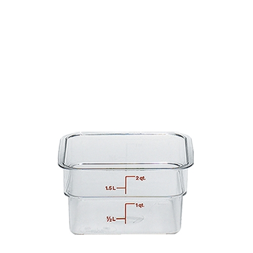 Cambro  Polycarbonate  Storplus Container 185 x 185 x D100mm Clear