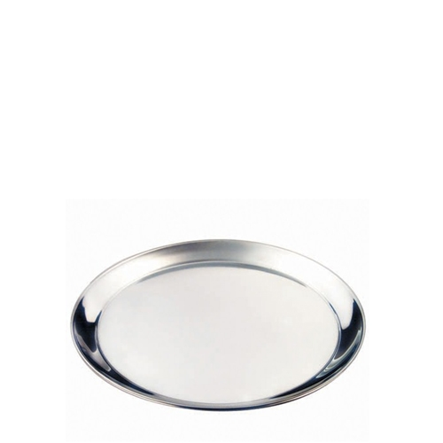 """Stainless Steel Round Tray 12"""" Silver"""