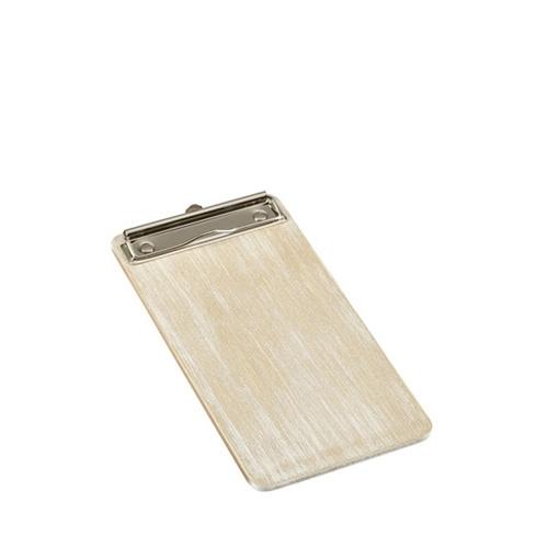 White Wash Wooden Wine List Clipboard 13x24.5cm