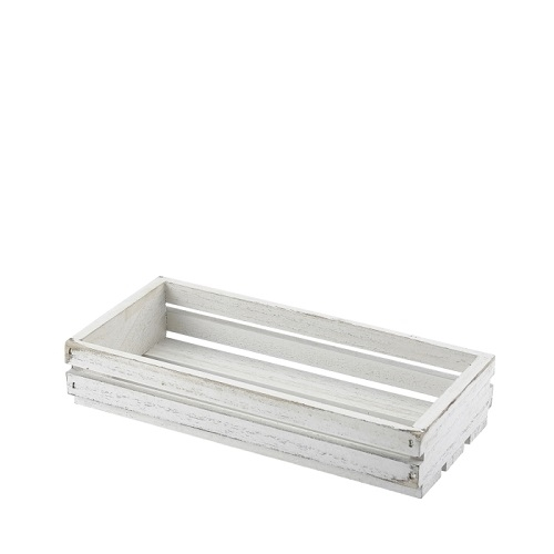 White Wash Wooden Display Crate 25 x 12 x 5cm