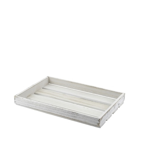 White Wash Wooden Display Crate 35 x 23 x 4cm