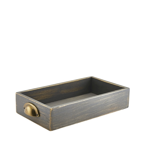 Grey Wash Acacia Wood Display Drawer GN 1/3