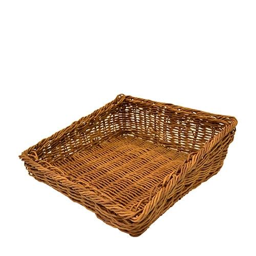 Dalebrook Polywicker Angled Basket 337mm x 331mm x 55/110mm Brown