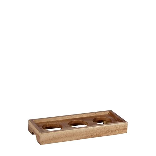 Churchill 3 Dip Wood Presentation Platform 25.8 x 11cm Brown