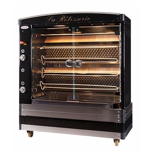 Doregrill Magflam 5 Gas Spit Rotisserie Oven 30 to 35 chickens per hour Black
