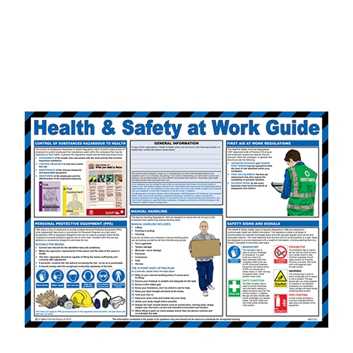 Health & Safety at Work  Laminated Poster 420 x 590mm Printed