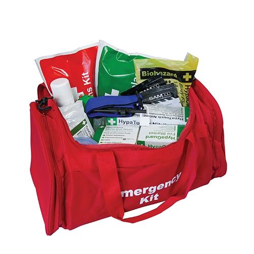 Emergency Trauma Kit in Red Bag 50 x 28 x 28cm