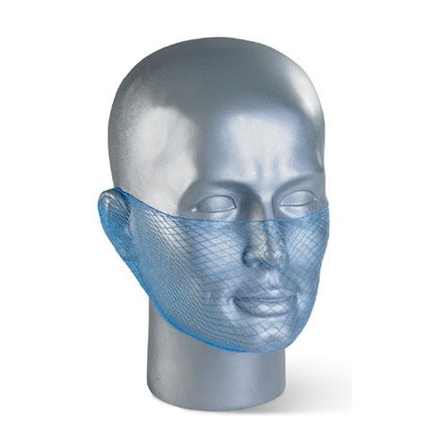 Flame Retardant Disposable Beard Snood/Net Blue