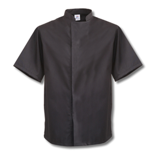 Tibard Short Sleeve Chefs  Jacket Medium Black