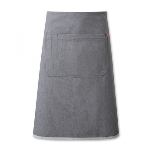Oliver Harvey Denim Long Waist Apron 74cm x 62cm Grey
