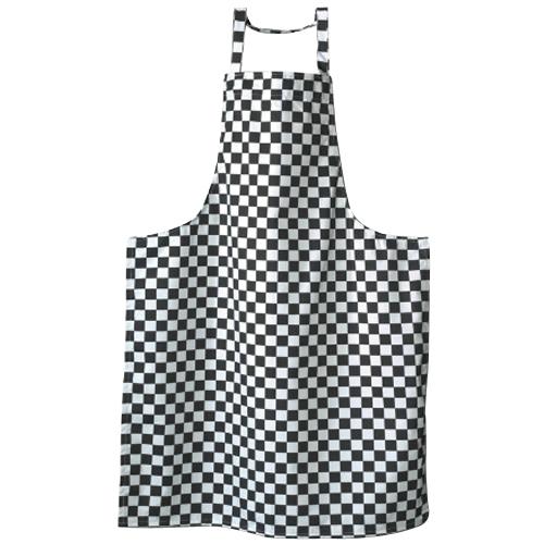 Tibard Bib Apron Checkerboard One Size Black