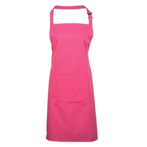 Tibard Colours Bib Apron One Size Hot Pink