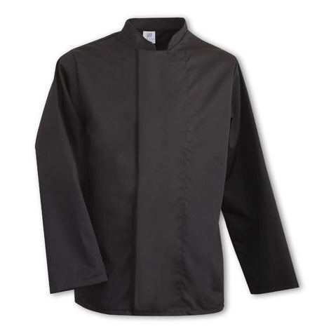 Tibard Coolmax  Long Sleeve Chefs Jacket Small  Black