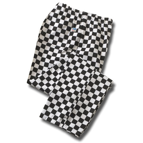 Tibard Checkerboard Chef Trousers Medium Black