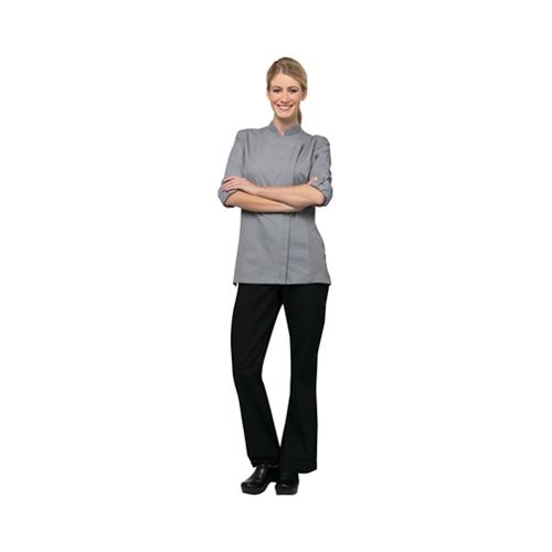 Chef Works Hartford Women's Long Sleeve Chef Jacket Large Grey