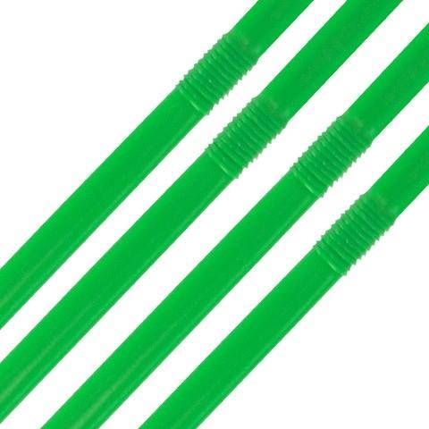 "Biodegradable Cellulose Flexi Straw 20cm (8"") Green"