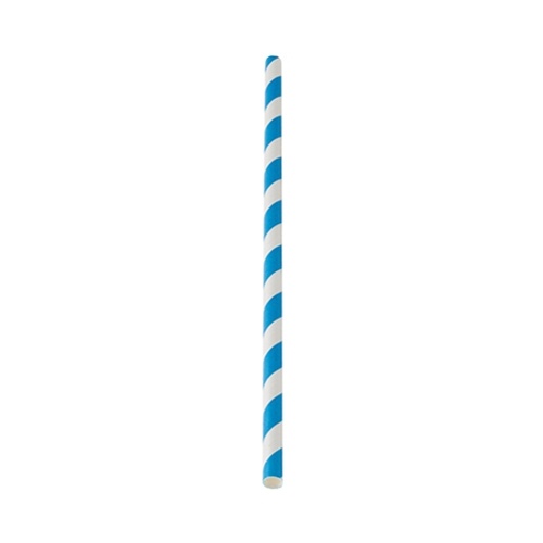Utopia Blue Stripe Paper Straw 20cm (8