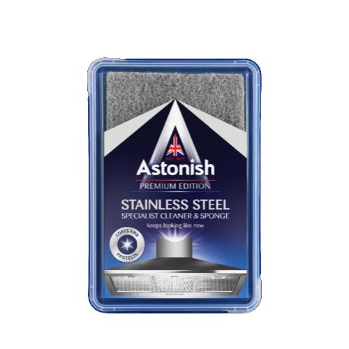 Astonish Stainless Steel  Cleaner & Sponge 250g