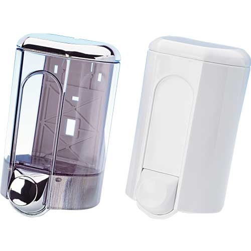 Chrome Top  Liquid Soap Dispenser 350ml Clear