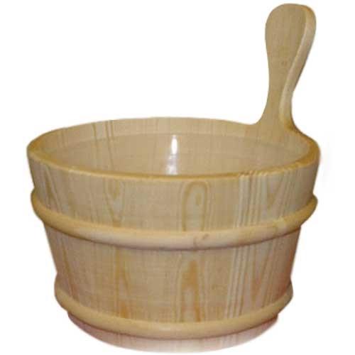Wooden  Sauna Bucket 4Ltr Natural