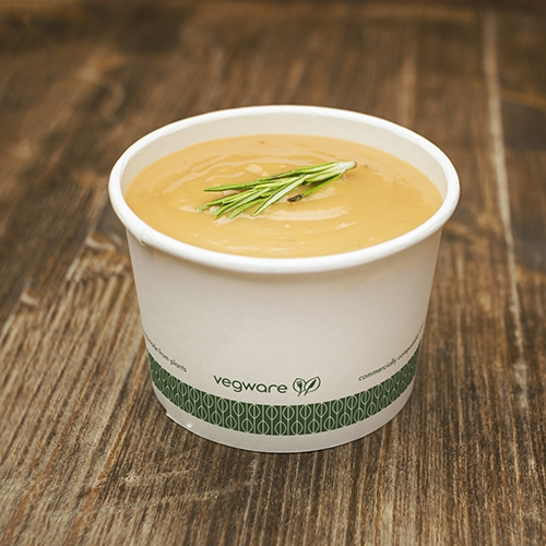 Vegware Compostable Soup Container 16oz White White 16oz