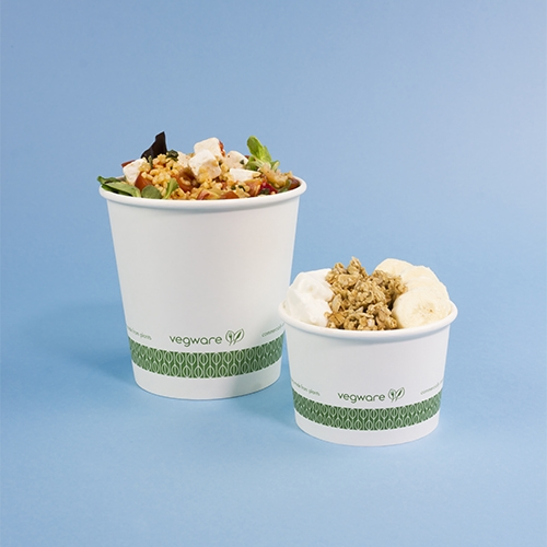 Vegware Compostable Soup Container 8oz White White 8oz